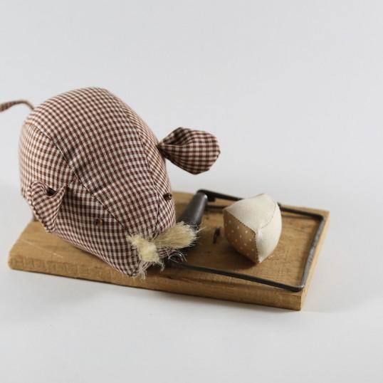 Cocodrila Von Dúrcal - Ratón de trapo - marrón vichy.