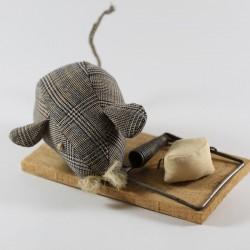 Cocodrila Von Dúrcal - Ratón de trapo - marrón cuadros